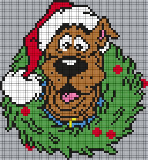 perler bead grid scooby doo wreath square grid perler bead