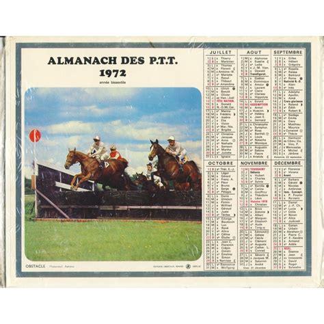 Calendrier De 1972 Calendrier Almanach Des Ptt 1972 Rugby Et Hippisme