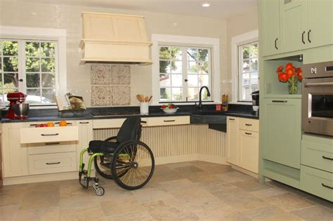 Handicap Kitchen Cabinets Country Accessible Kitchen Transitional Kitchen San Diego By Cabinets By Design