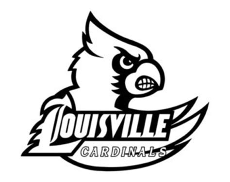 Louisville Basketball Coloring Pages | louisville cardinals logo coloring sheet sketch coloring page