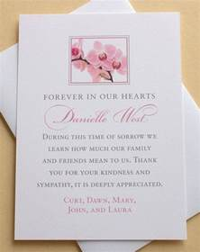 thank you card exle condolence thank you cards printed sympathy thank you cards order