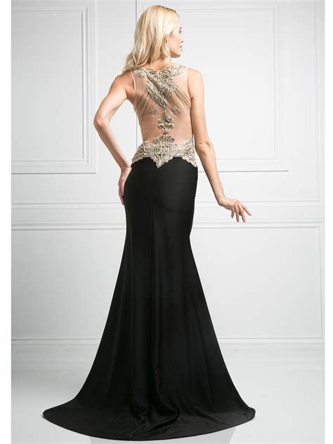 Bl V Slit sleeveless v neck evening dress with slit sung boutique l a