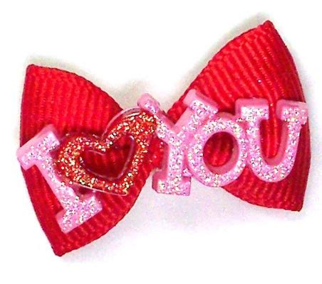 valentines hair bows i you hair bow 14 99 four paws