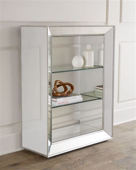 shilo mirrored bookcase