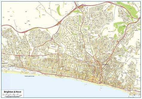 printable maps brighton brighton street map 163 16 99 cosmographics ltd
