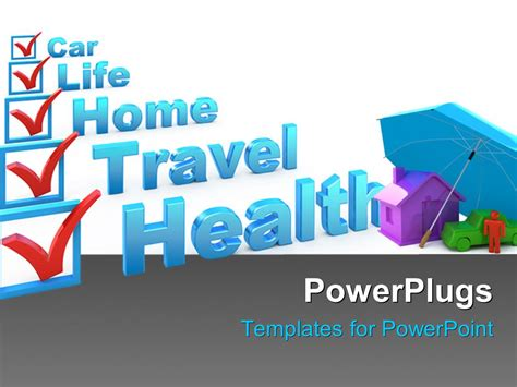 Powerpoint Template Insurance Concept With A Check List Insurance Ppt Templates Free
