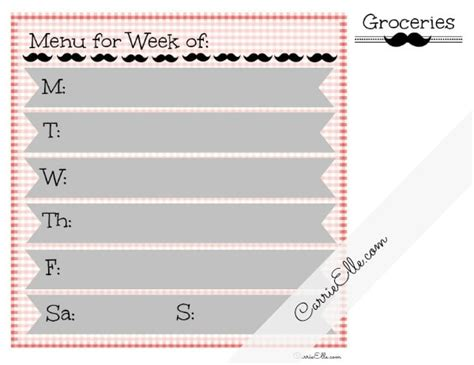 printable meal planner by carrie lindsey free meal planning printables and meal planning resources