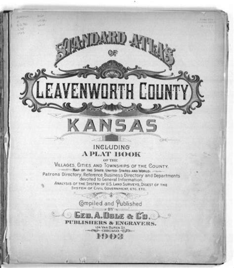 Leavenworth County Records Standard Atlas Of Leavenworth County Kansas Kansas