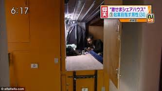 tiny japanese apartment living in a box the tiny coffin apartments of tokyo which cost up to 163 400 a month to rent