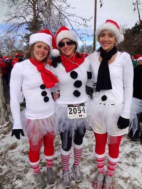 snow ladies team running costumes snowman costume