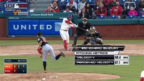 Ichiro Suzuki Pitching Suzuki S Pitching Debut Tracked By Statcast Mlb