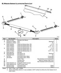 spare parts diagram carefree sl window awnings caravan