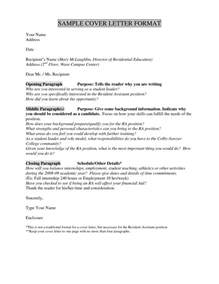 Cover Letter Without Addressee great cover letter without address letter format writing
