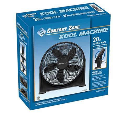 comfort zone shop comfort zone 20 inch high velocity turbo fan my cooling