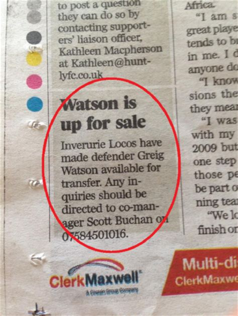 classified ads section of a newspaper scottish semi pro side inverurie locos attempt to sell
