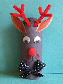 Simple toilet paper roll reindeer decoration dotingoncrafts