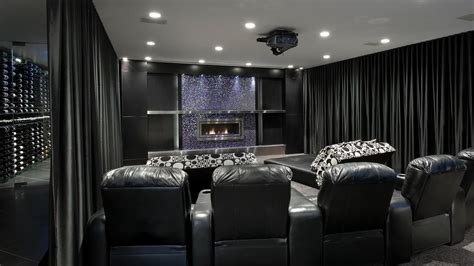 home theater curtains high tech entertaining space centaur interiors hgtv