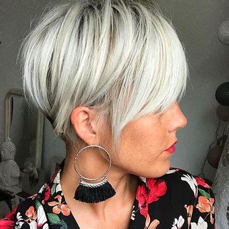 18 short hairstyles with long bangs 2017 2018 | short