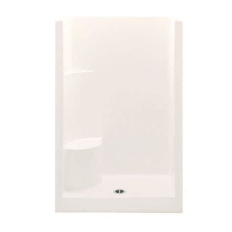 One Shower Stall With Seat by Aquatic Everyday Smooth Wall 48 In X 33 1 2 In X 75 In