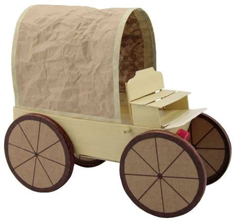 How To Make A Paper Wagon - model covered wagon teaching tries