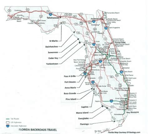 road map of florida towns in florida