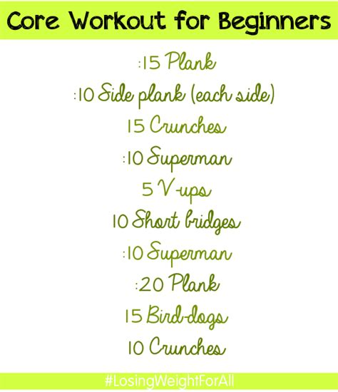 workout for beginners ab workouts