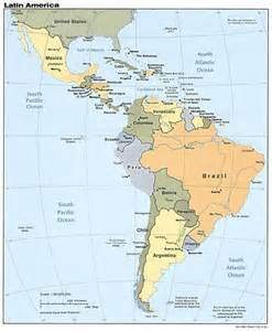 Latin America Physical Features Map by Physical Geography Of Latin America