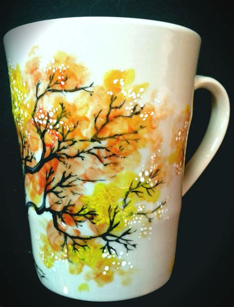 hand painted mug design inspired hand painted mug