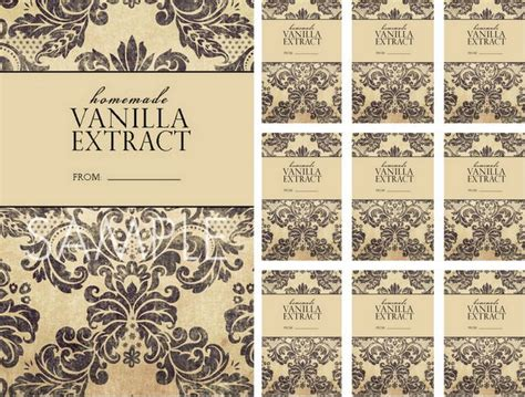 vanilla extract label template vanilla printable labels vintage labels free printable labels and design