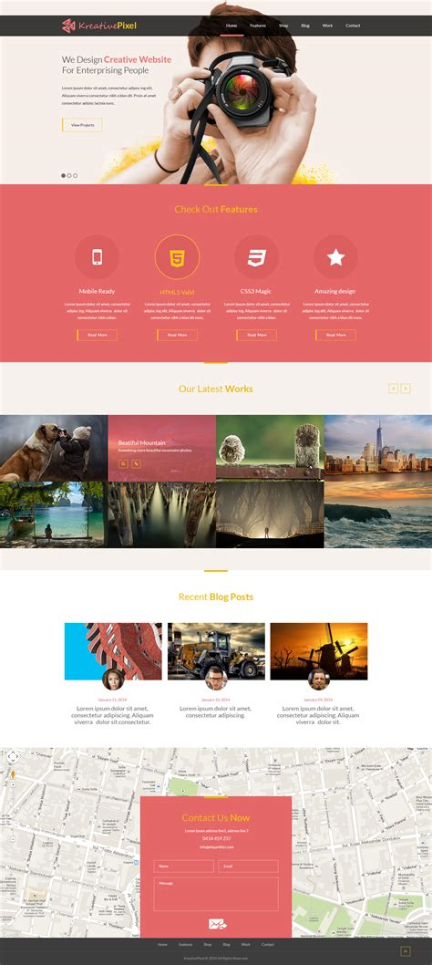 free creative website design template psd at freepsd cc