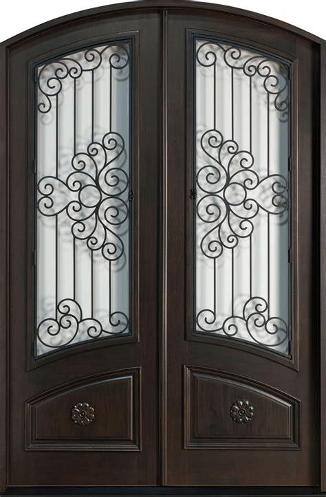 Front door custom double solid wood with espresso finish heritage
