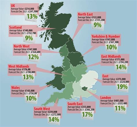 where will house prices rise the most five years