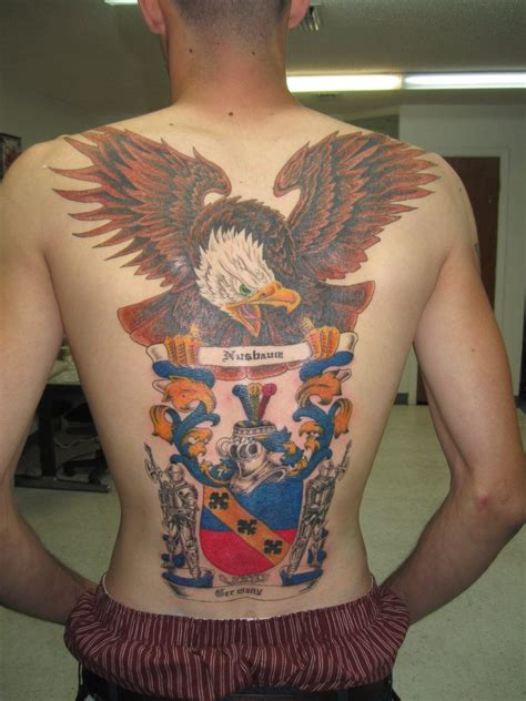 traditional back tattoos american coat of arms www pixshark images