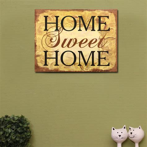 Livaza Wall Decor Home Sweet Home 1 adecotrading quot home sweet home quot wall decor reviews wayfair