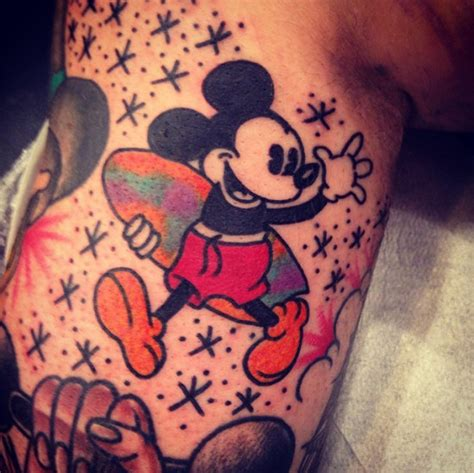 mickey mouse head tattoo designs mickey mouse tattoos