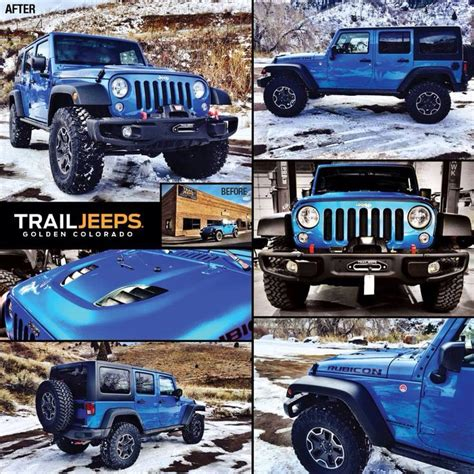 jeep beer tire this 2015 hydro blue hard rock edition jeep build includes