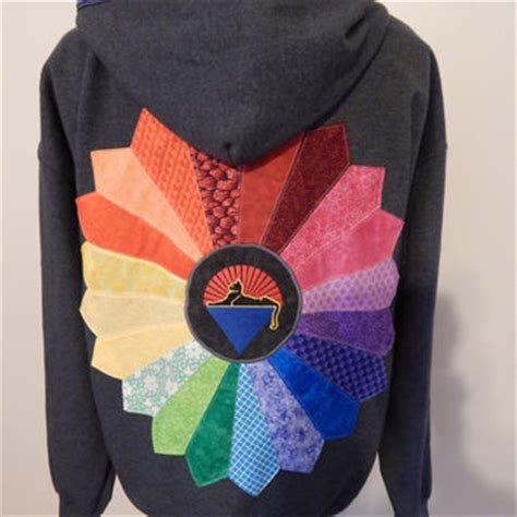 Grateful Dead Patchwork Hoodie - gray grateful dead rainbow cats from attickpatchwork