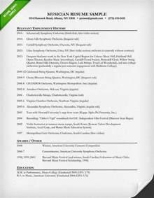 Musical Resume Template resume sle resume genius