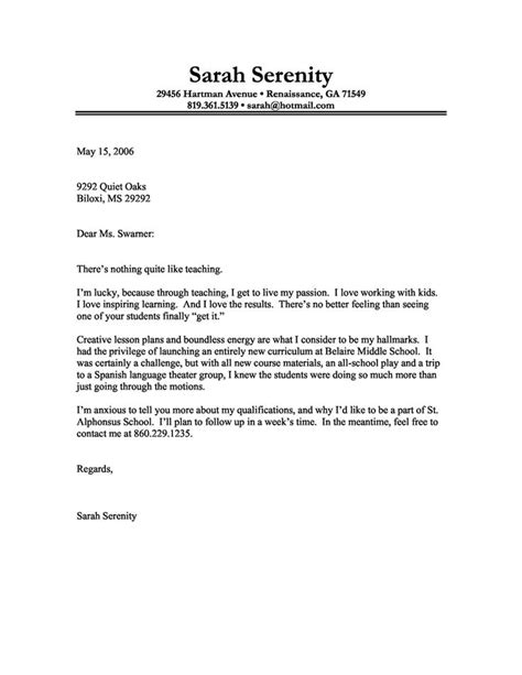 succesful cover letters successful cover letters sles cover letter ideas on