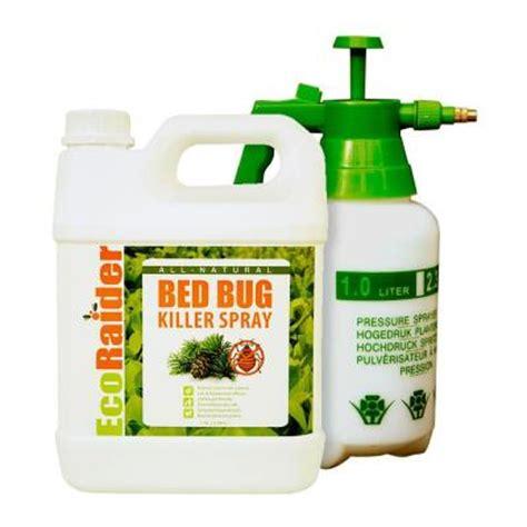 commercial bed bug spray ecoraider 1 gal natural non toxic bed bug killer jug