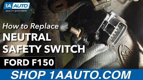 replace neutral safety switch   ford  youtube