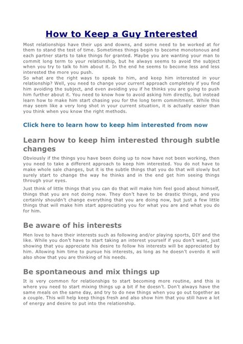 10 Ways To Keep A New Interested by Collection How To Keep Him Interested Text Photos