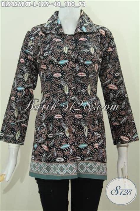 desain baju batik yang cantik busana batik solo desain elegan kerah kotak produk baju