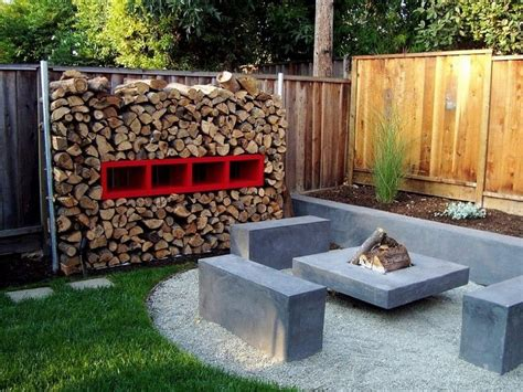 Cool Ideas For Backyard Awesome Sitting Space Of Cool Backyard Ideas By Applying Concrete Seat And Unique Fireplace Desk