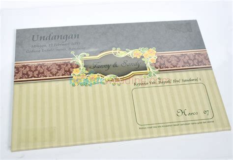 Murah Undangan Hardcover Mk Coklat Gold undangan pernikahan hardcover murah hrc07 banjar wedding