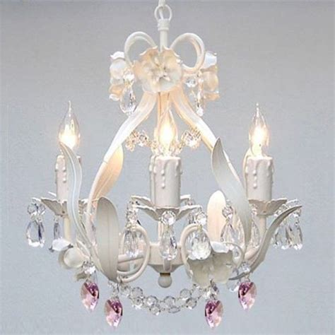 mini chandeliers for a girl s room popsugar moms crystal mini white floral pink ceiling chandelier 4
