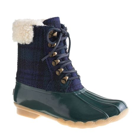 sperry boots for j crew sperry topsider for flannel shearwater boots in