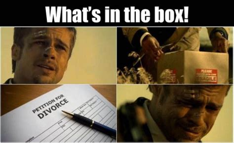 Dick In A Box Meme - brad pitt meme whats in the box www pixshark com