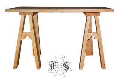 tavolo medievale tavolo in legno con cavalletti medievale smontabile