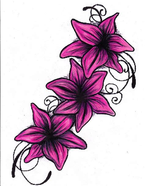 tattoo flower graphic lilly flower tattoo clipart best
